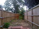 Replace section of featheredge fencing