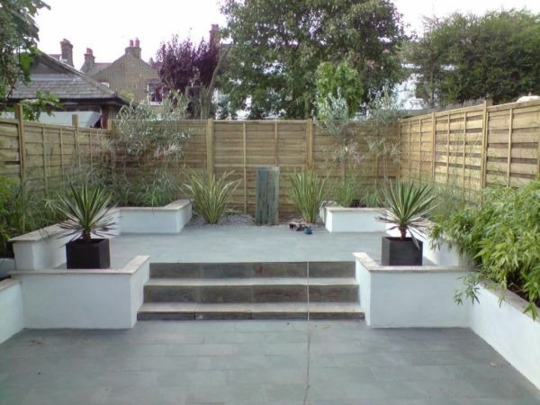 Landscape Small Garden, New Patio, Water Feature & Shed ...