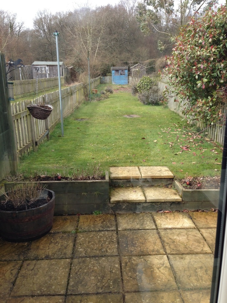 Landscape Gardening High Wycombe : Landscape small garden new patio water feature shed