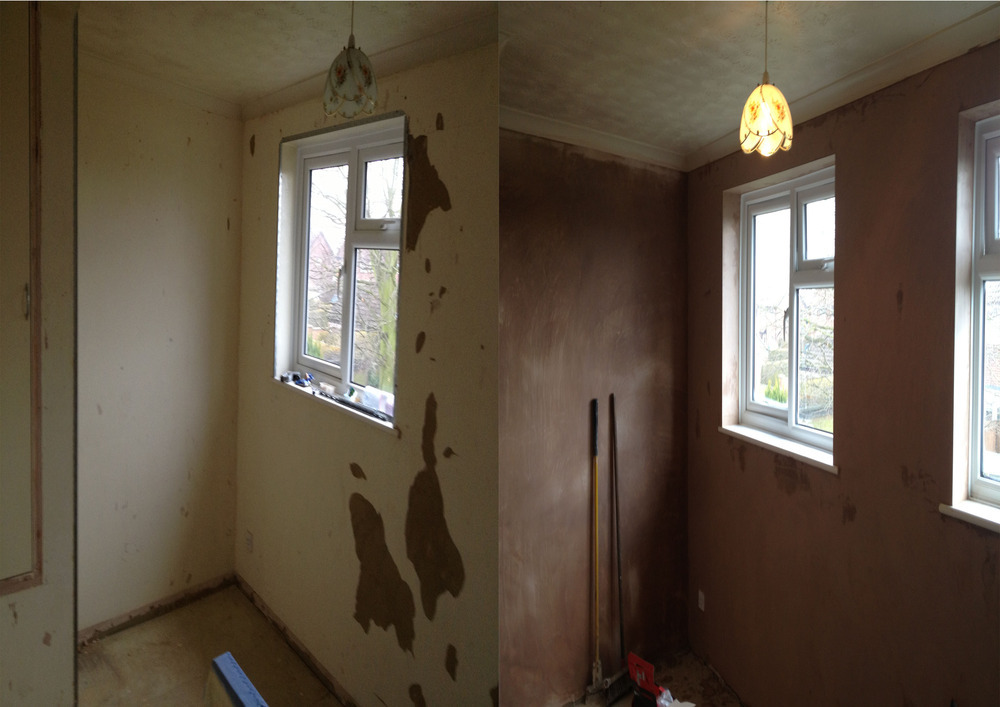 Plastering A Room After Wall Paper Removal