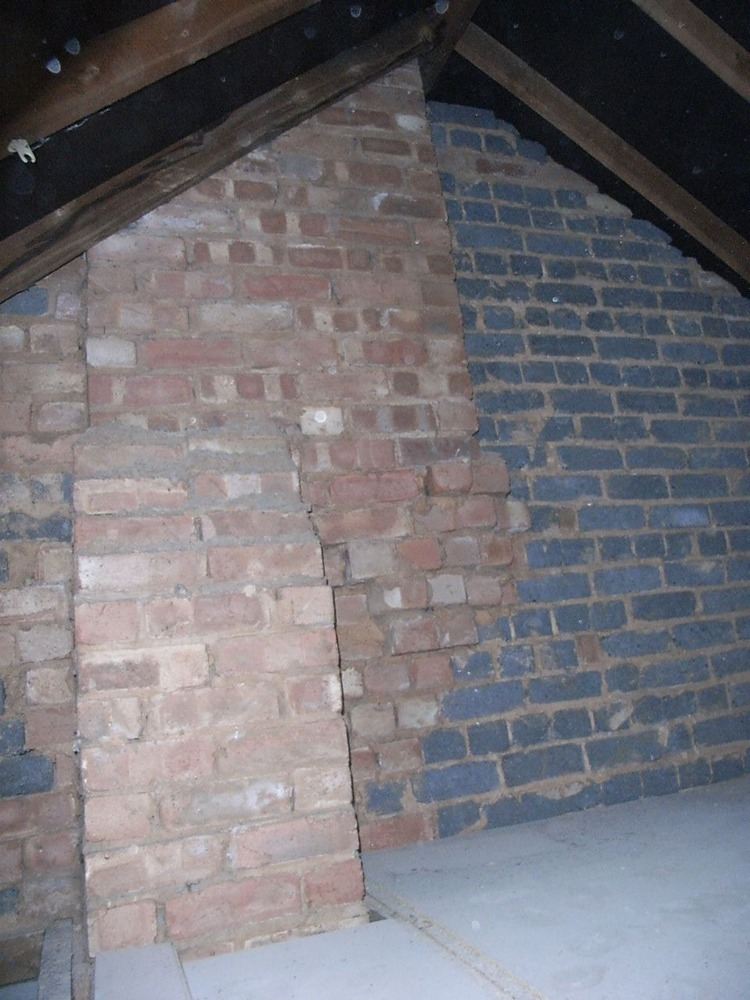 Chimney Stack Made Safe With Gallows Bracket Lintel