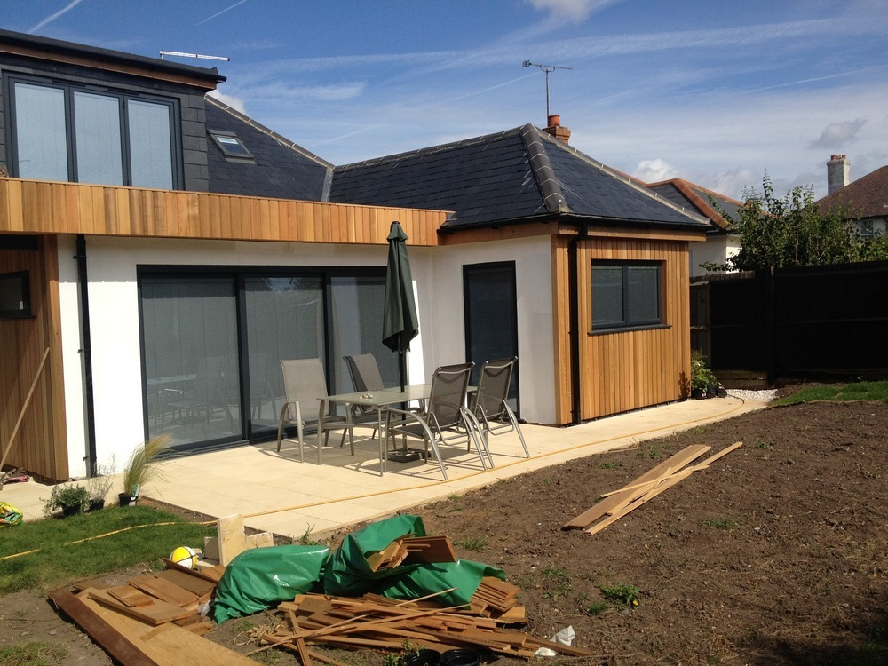 1000 images about home facade makeover on pinterest On bungalow side extension ideas