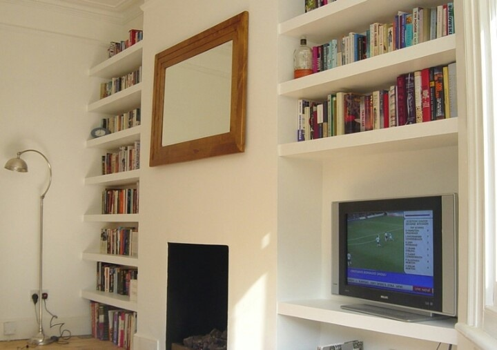 Alcove Floating Shelves Victorian Flat Carpentry Joinery Job In Hammersmith West London