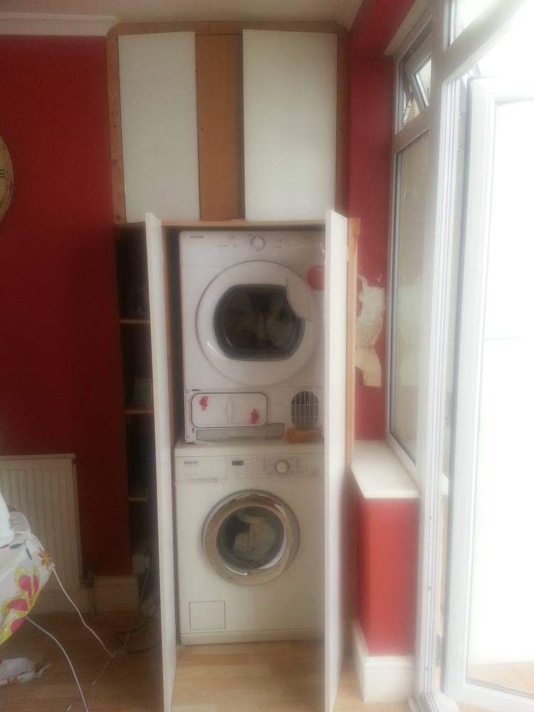 Build Cabinet Around Stacked Washer Tumble Dryer Carpentry Amp Joinery Job Barnet