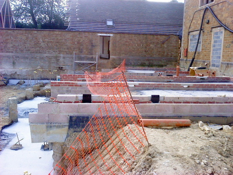 Vented sleeper walls for block and beam blocking up for Block and beam foundation vs slab