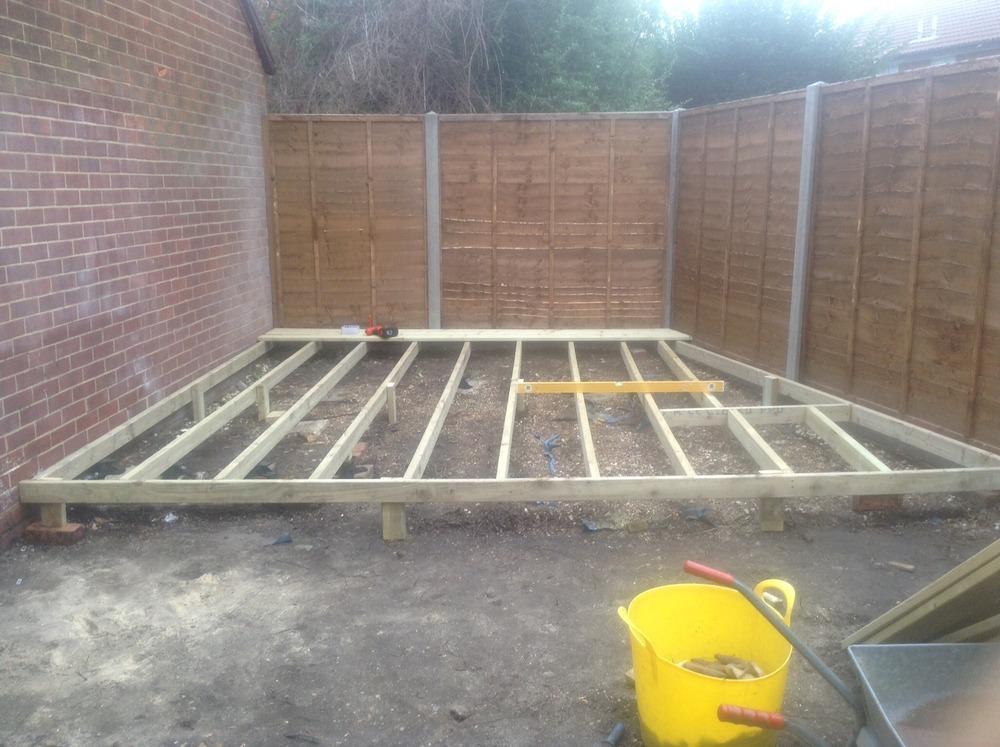 All season garden maintenance and landscaping 67 for Garden decking framework