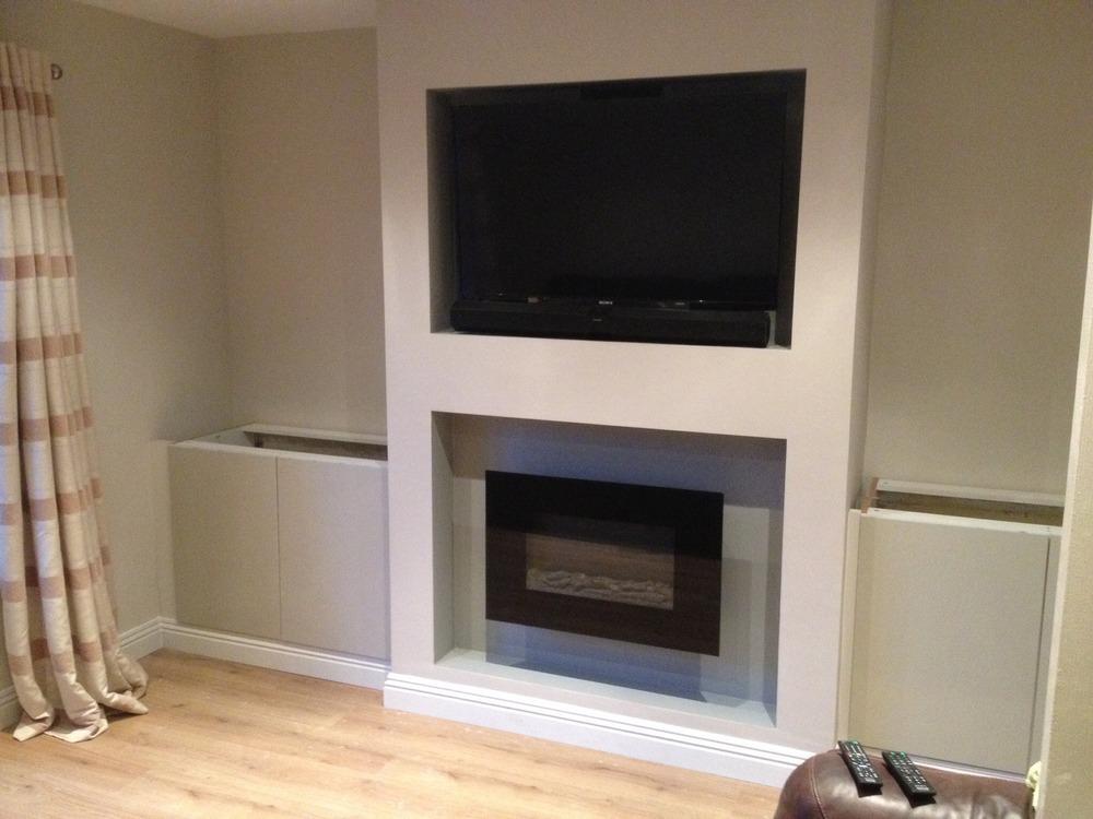 Tv Over Fireplace Heat Contemporary Fireplace Designs