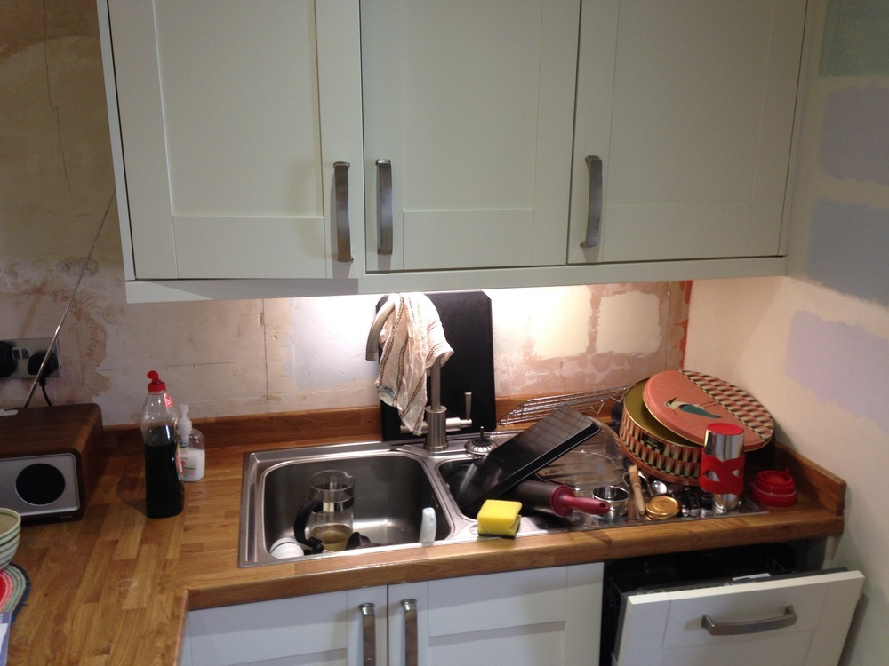 Kitchen tiling tiling job in plymouth devon mybuilder for High level kitchen units