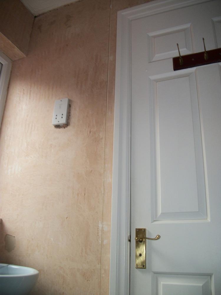 Plastering job walls and ceiling plastering job in for Bathroom builders liverpool