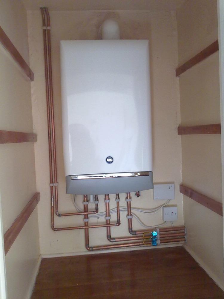 Small Utility Room Pellet Boiler