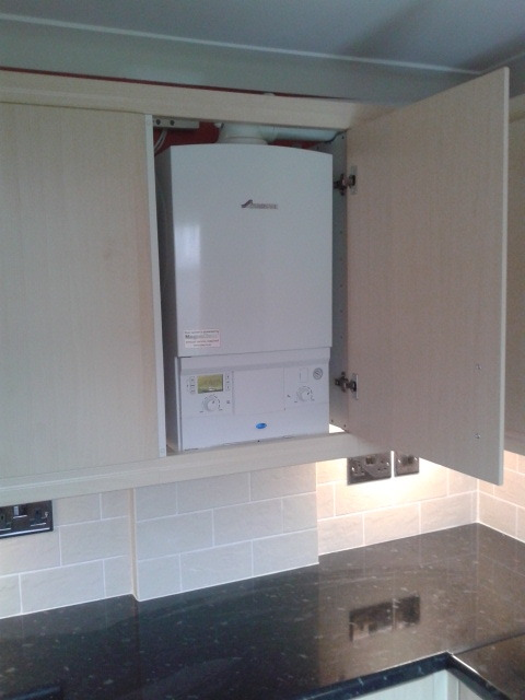 Alex roberts gas heating engineer plumber 100 for Kitchen boiler cupboard
