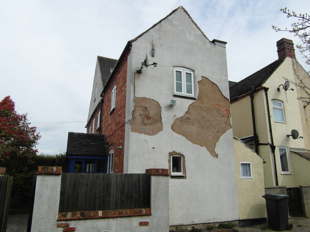 remove blown rendering and re render exterior wall