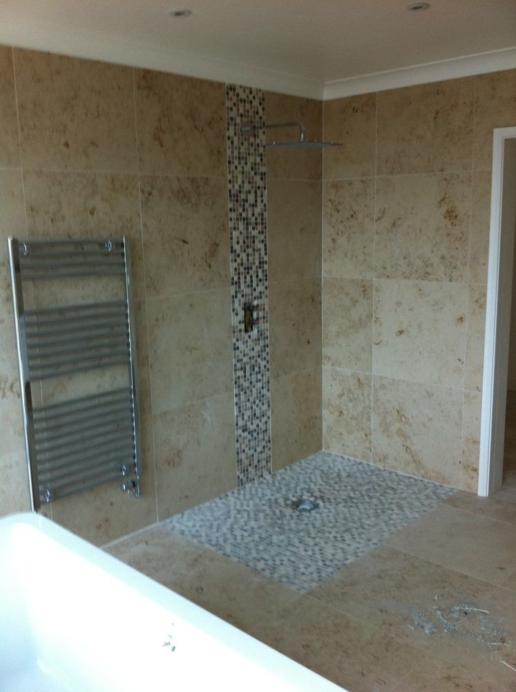 Ontario images tile around tub with wet room shower tray also laminate