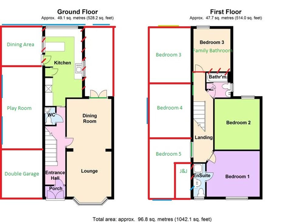 Two storey extension mapperley extensions job in for Extension floor plans