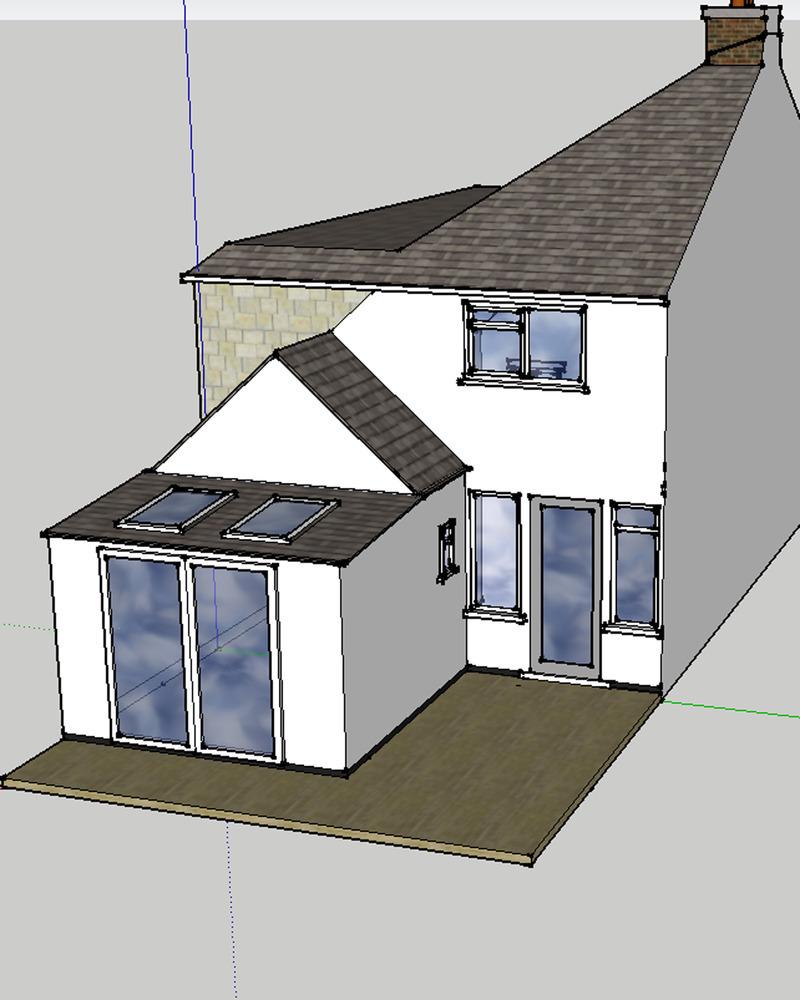 4m x 3m single storey kitchen extension extensions job for Kitchen designs 3m x 4m