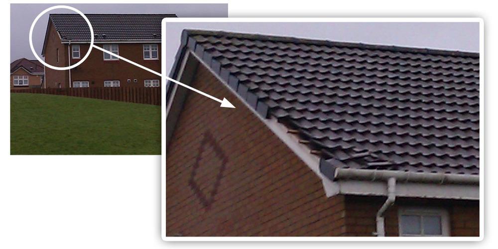 Roof Tiles Storm Damage Roofing Job In Coatbridge