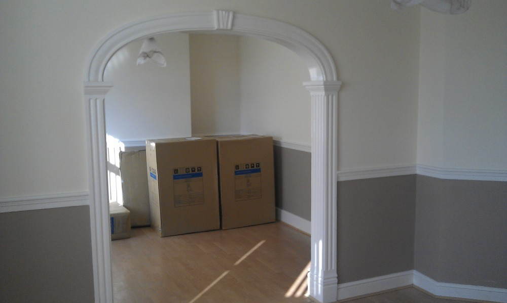 Knock down interior wall arch demolition clearing job for Interior wall arches