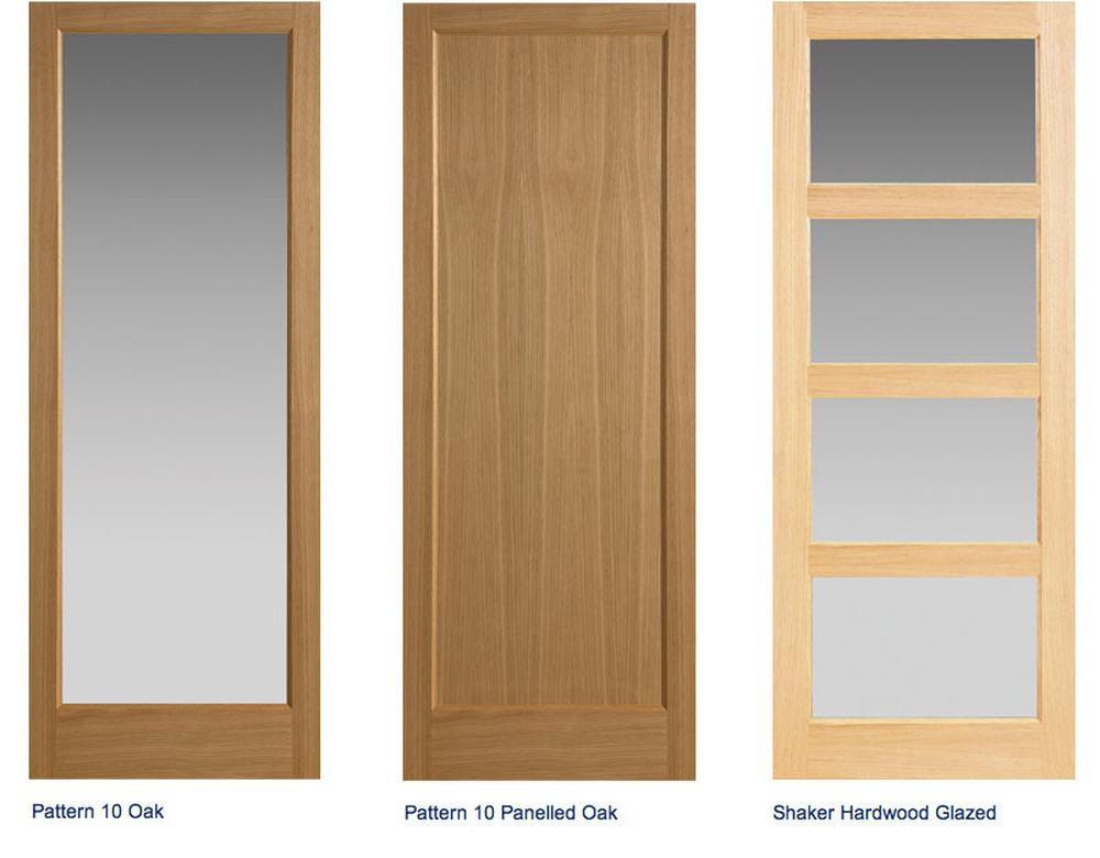 Tri Fold Doors : Varnish shaker glazed tri fold doors frame m