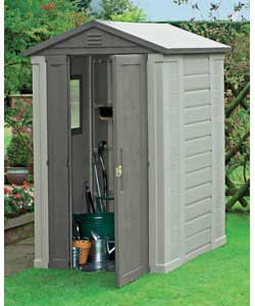 erection of plastic garden shed garages sheds job in