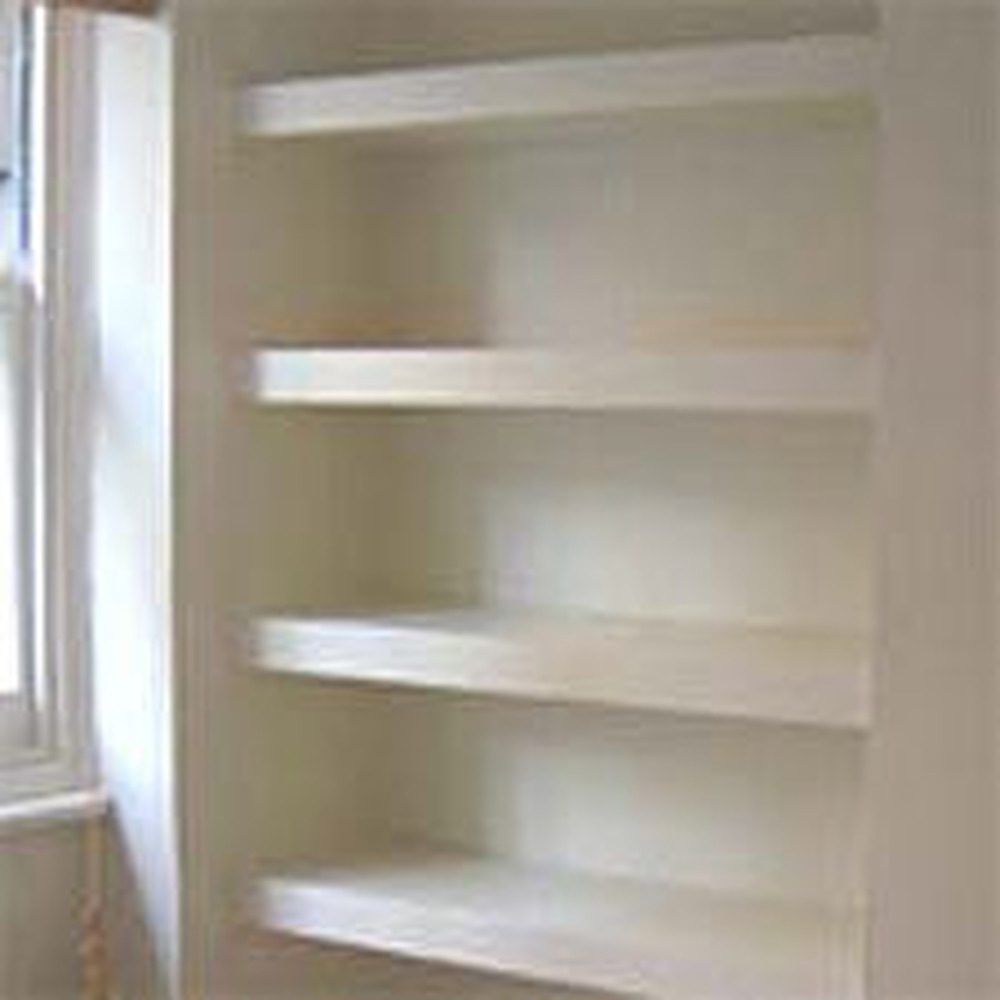 alcove cupboard shelves carpentry joinery job in. Black Bedroom Furniture Sets. Home Design Ideas