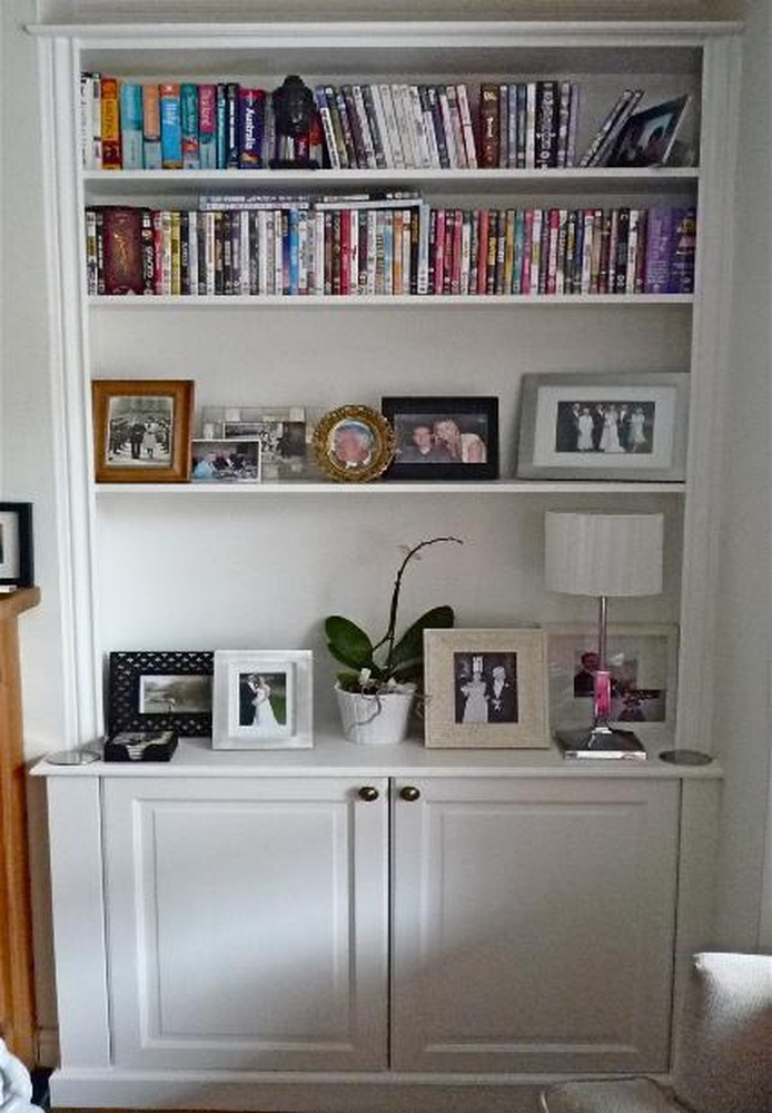painting a fireplace and alcoves