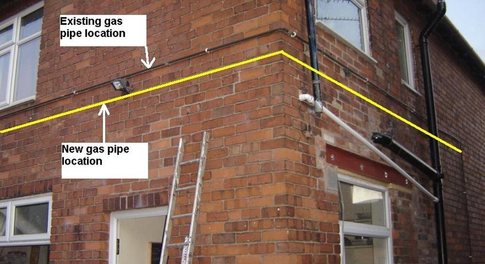 A Simple Gas Pipe Job Gas Work Job In Derby Derbyshire