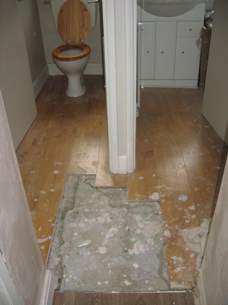 Tiling floor in downstairs toilet and shower room - Tiling job in Upper Edmonton, North London ...