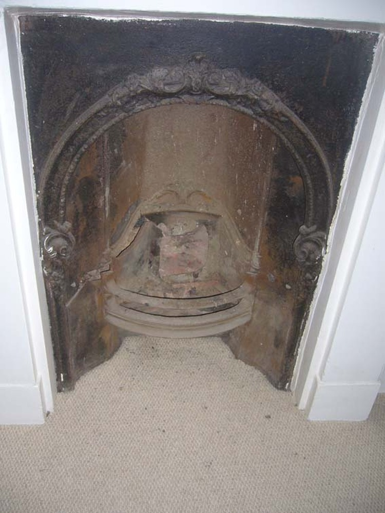 Repair to victorian fireplace cast iron arch restoration Victorian fireplace restoration