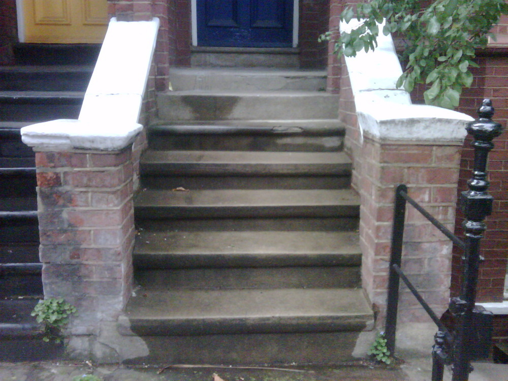 Outdoor Front Steps Refinishing Waterproofing
