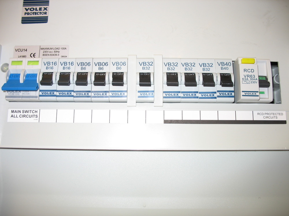Moving fuse box and replacing trip switches electrical
