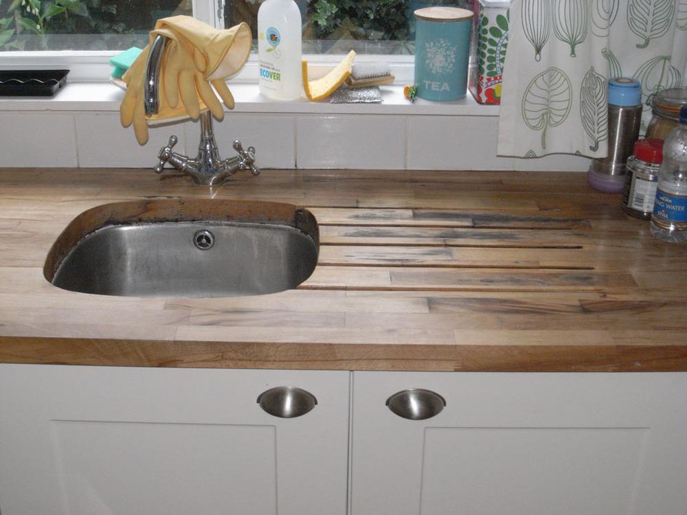 Wood Kitchen Floor Wooden Work Surface Kitchen Fitting