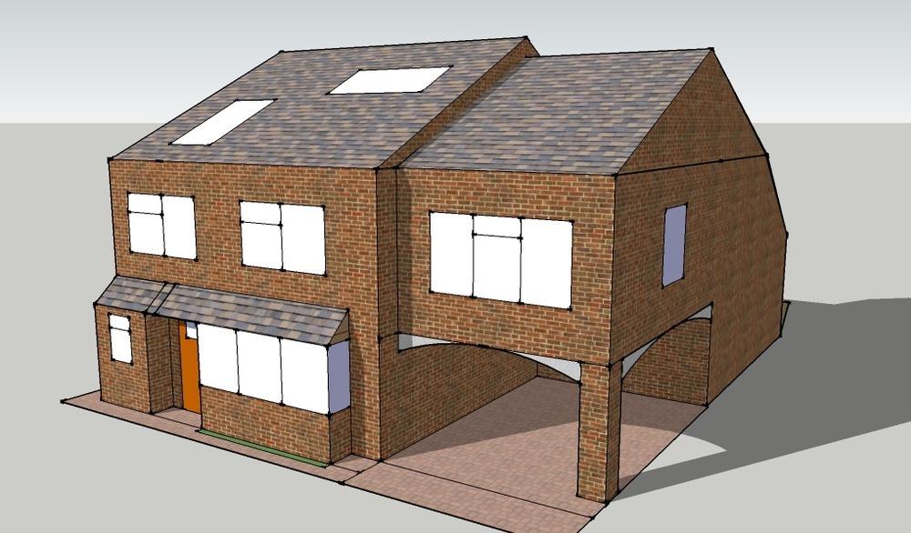 Side extension above garage conversion car port for Extension garage