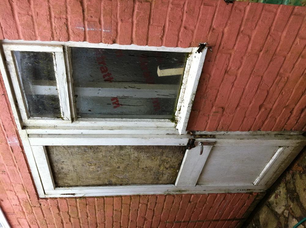 Upvc door window some brickwork garage conversion for Upvc garage doors