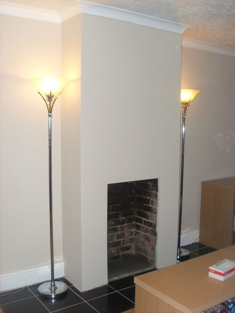 Plaster Chimney Breast And Fit Fireplace Plastering Job