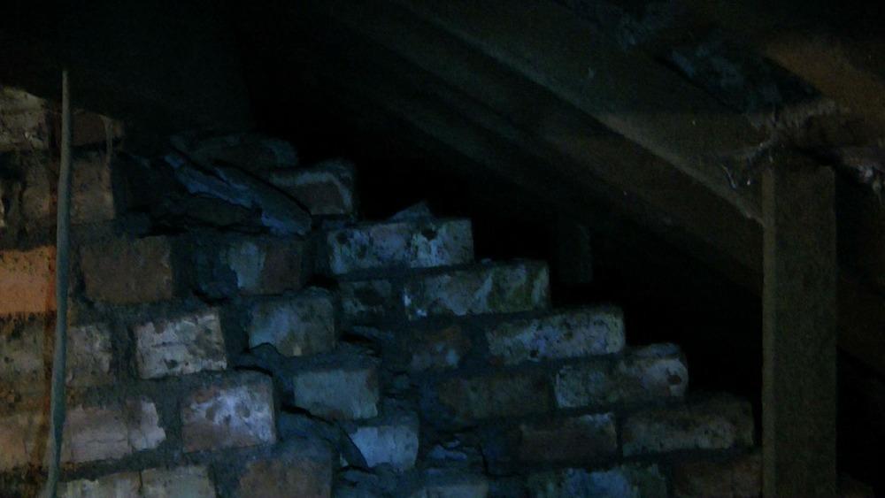 Build Up Firewall In Loft Bricklaying Job In Ashton
