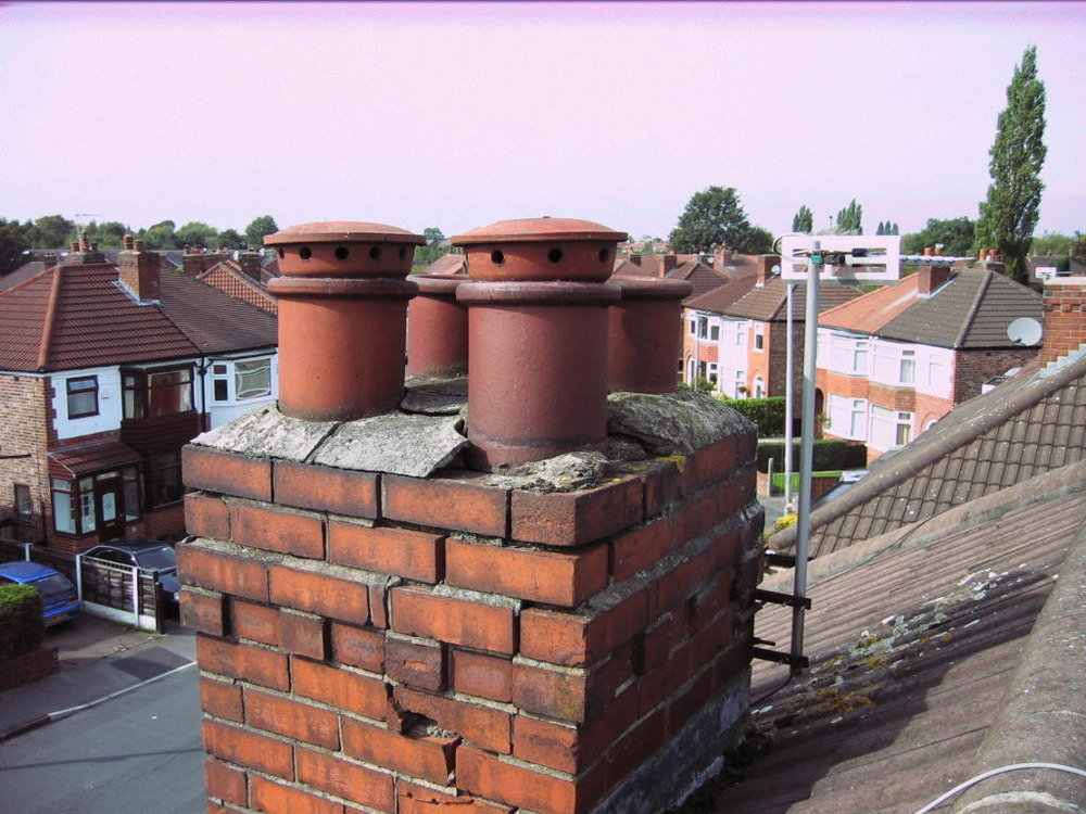 Chimney Stack Rebuild X 2 Scaffolding Tower Plus Roof