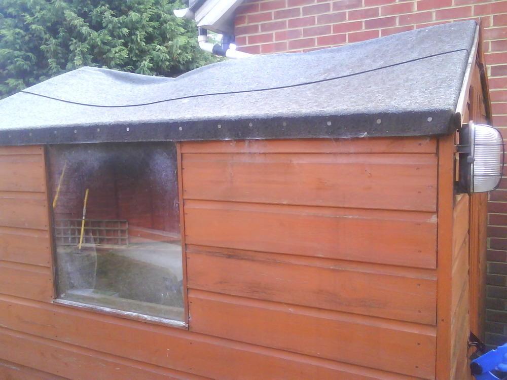 Bathroom carpet b q - Replacing Shed Roof Garages Amp Sheds Job In Sittingbourne Kent