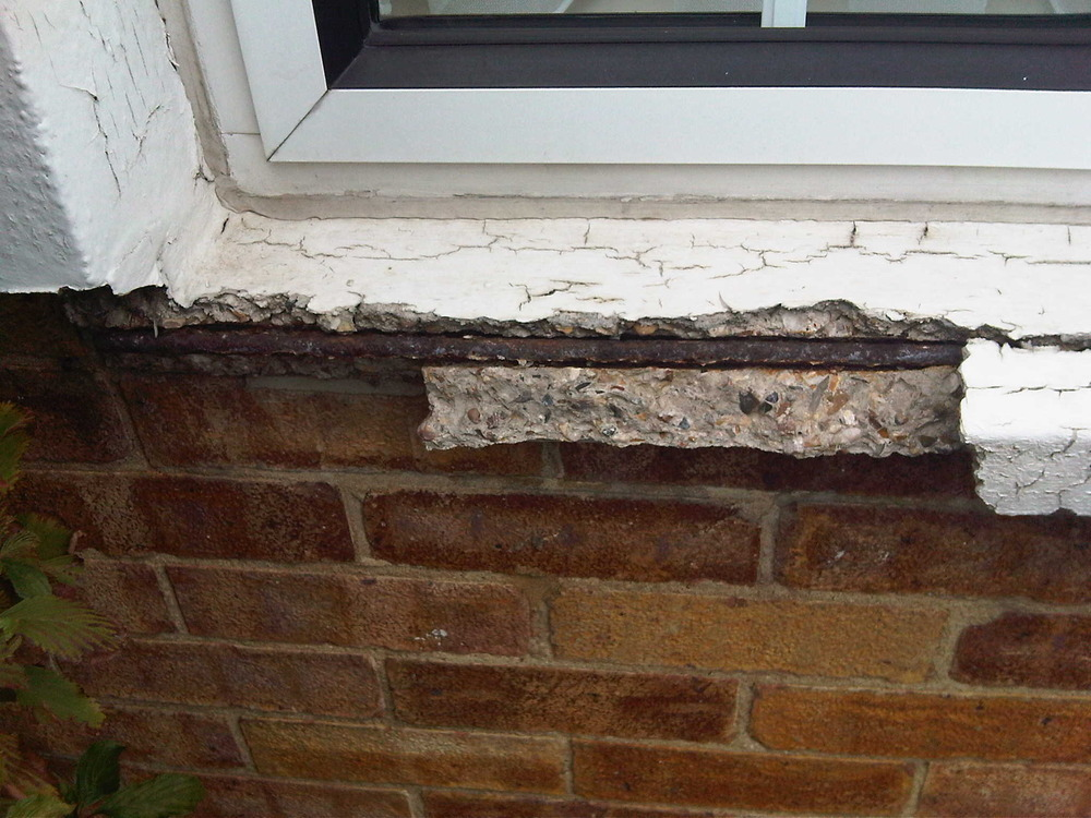 Repair concrete window sill which is crumbling for Window sill replacement