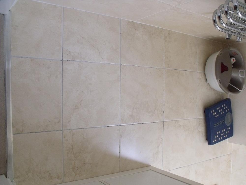 Bathroom Tile Jobs : Tile floor in small bathroom needs re grouting tiling