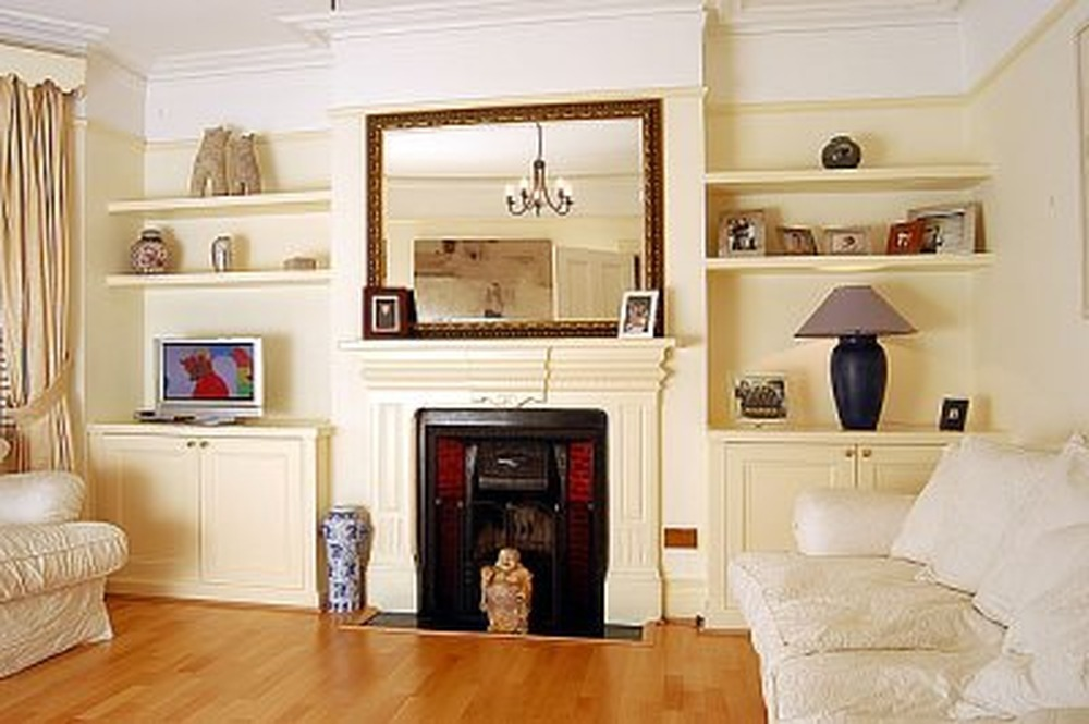 Build Cabinet And Shelves Into Victorian Alcove