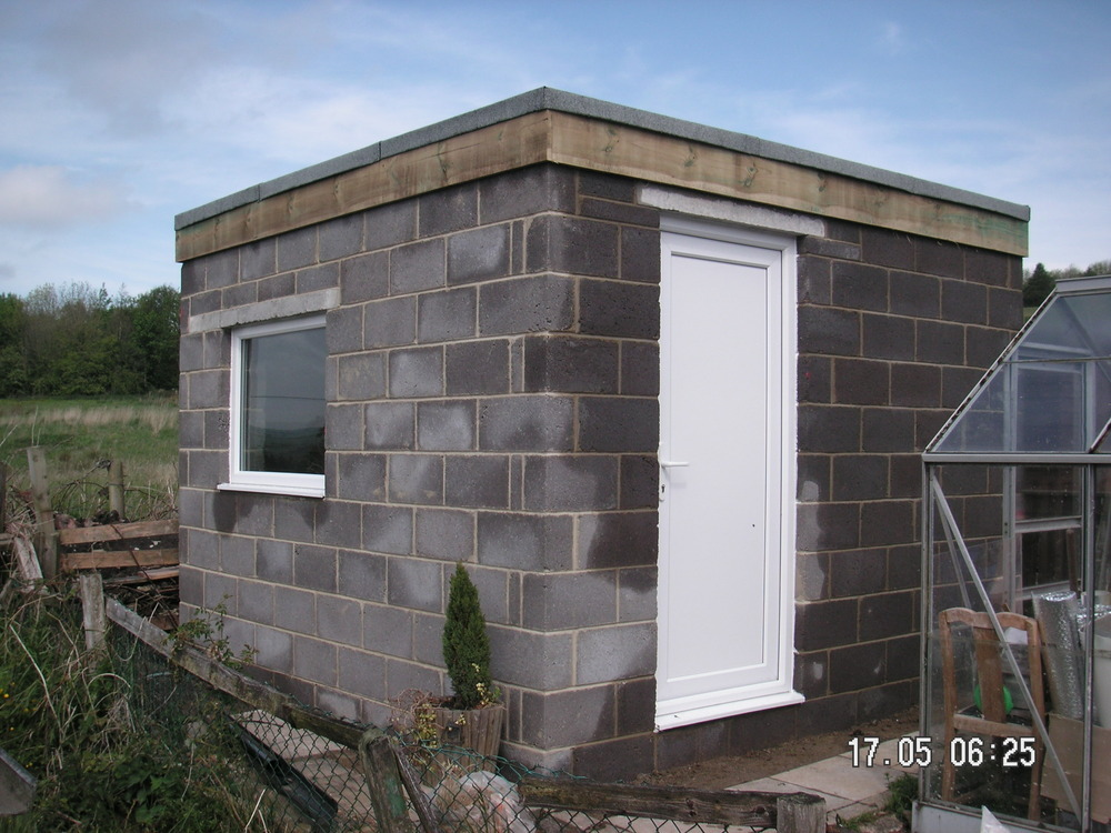 How to build a cinder block shed shed plans for free for Building a concrete house