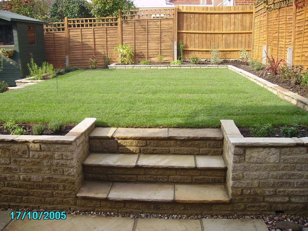 New garden design and build landscape gardener for New build garden designs