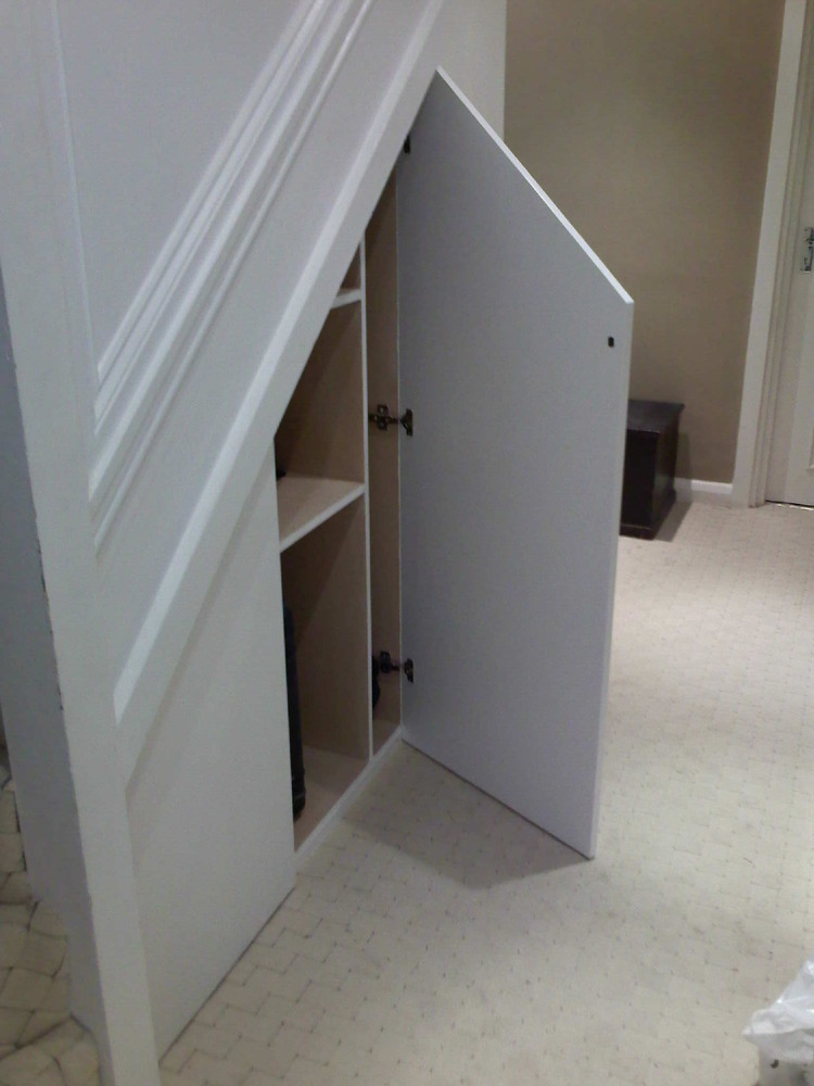 building cupboard under stairs