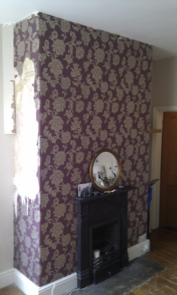 Wallpaper chimney - Painting & Decorating job in ...