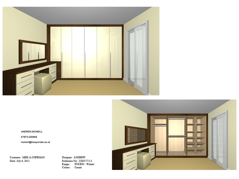 Build And Install Fitted Wardrobe Dressing Table