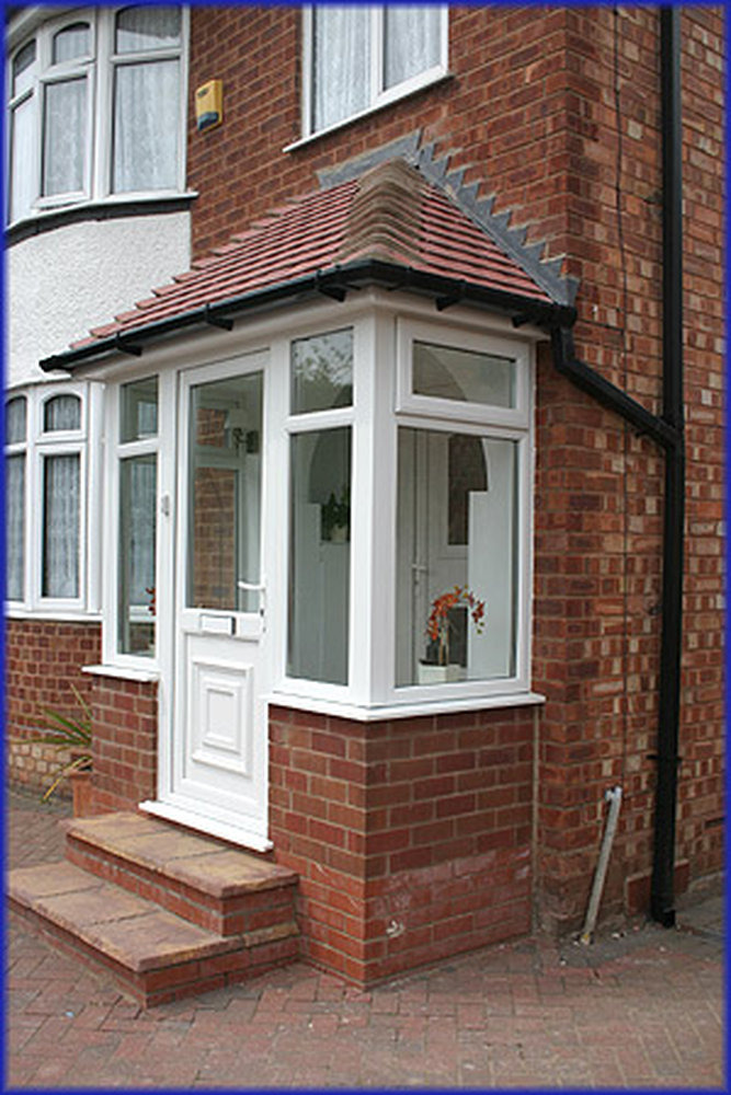 Front porch construction conservatories job in leicester for Front porch construction