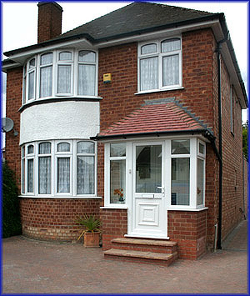 Front porch construction conservatories job in leicester for Brick porch designs for houses