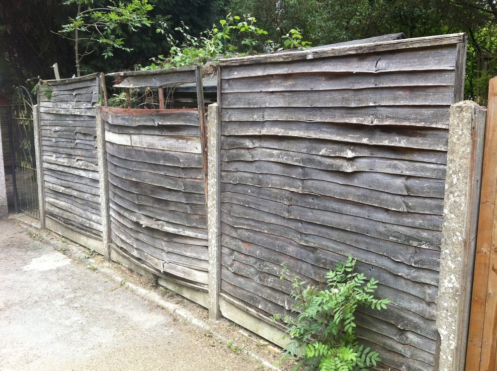 replace 9 fence panels 6 foot panels replace 7 posts. Black Bedroom Furniture Sets. Home Design Ideas