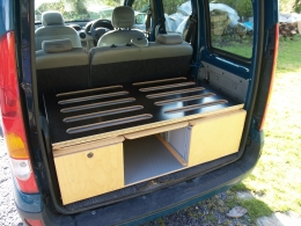 Small Van Camper Conversion Made From Wood Carpentry