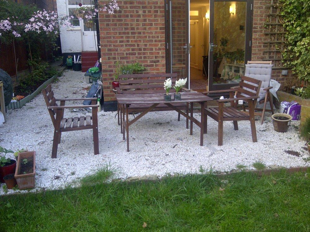 Decking for 33 sq meters garden flooring job in for Garden decking north london